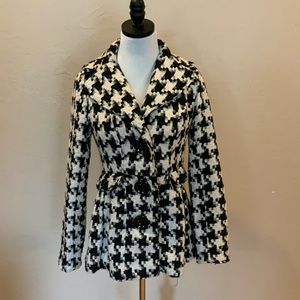 Candie's Cute Houndstooth Pea Coat Size Small
